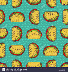 taco drawing background mexican fast food pattern food from