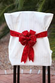 christmas chair covers christmas chair cover tutorials the bright ideas