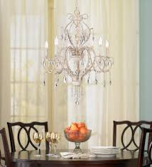 amazon com kathy ireland devon 5 light antique white crystal