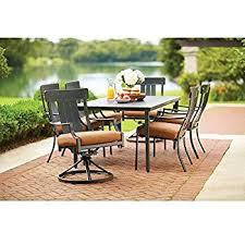 amazon com oak heights 7 piece patio dining set with cashew