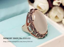 fashion rings aliexpress images Fashion vintage bohemia large artificial oval cat 39 s eye stone big jpg