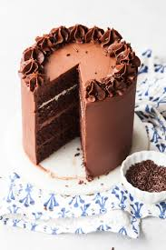 chocolate fudge layer cake with ombré chocolate filling u2014 style