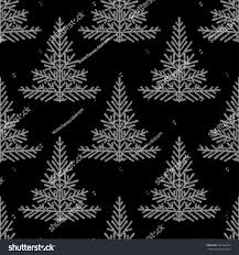 linear christmas tree seamless pattern pine stock vector 341069654