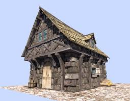 Style House 3d Asset Medieval Style House Cgtrader