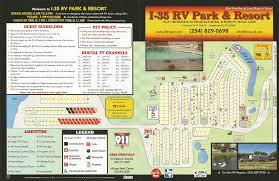 park map i 35 rv park u0026 resort llc