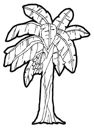 coloring page banana tree kids drawing and coloring pages marisa