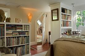bookshelf room divider basement traditional with beach style