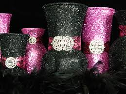 Bridal Shower Table Decorations by Wedding Centerpiece Wedding Decorations Pink Black Fuschia