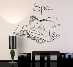 Bedroom Wall Decals For Couples Vinyl Wall Decal Spa Beauty Salon Massage Relax Stickers Mural