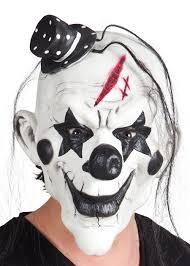 killer clown mask black and white killer clown mask