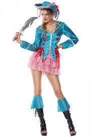 womens halloween pirate costume blue pink queen