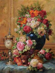 free classical flowers vase oil painting canvas prints printed on canvas wall art decoration pictures