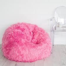 Pink Fur Chair Fur Bean Bag Chair Home Chair Decoration