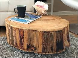 wood stump coffee table stump end table tree trunk coffee wood fresh tables made from top