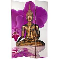 oriental room dividers 6 ft tall double sided thai buddha room divider roomdividers com