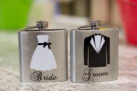 and groom flasks sale a set of and groom hip flasks 6 ounce stainless