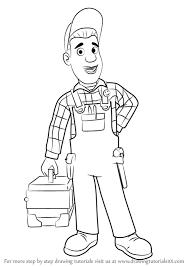 learn draw mike flood fireman sam fireman sam step