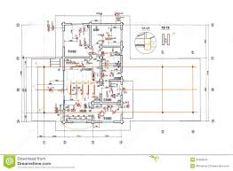 Floor Plan Blueprint Engineering Electricity Blueprint Stock Illustration Image 55365642