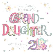 granddaughter 21st birthday greeting card cards love kates