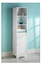 amazon tall bathroom cabinets white bathroom tall boy cabinet amazon co uk kitchen home