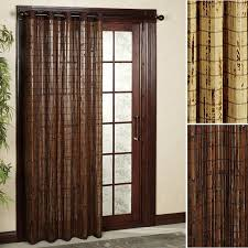 Patio Door Thermal Blackout Curtain Panel Sliding Door Curtain Rod Without Center Bracket Glass Support