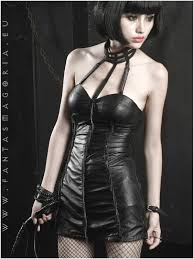 synthetic leather dress by punkrave code q 164 tight soft