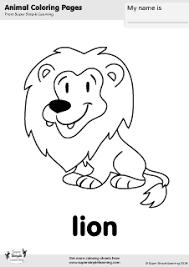 lion coloring super simple