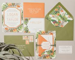 tropical wedding invitations tropical west coast inspired wedding ruffled
