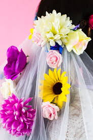 Faux Flowers How To Make Your Own Floral Veil Bespoke Bride Wedding Blog