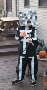 Minecraft Villager Halloween Costume Homemade Minecraft Skeleton Costume Halloween