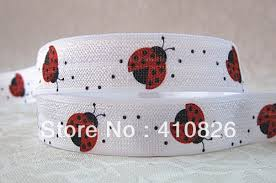 elastic ribbon wholesale q n ribbon wholesale oem 5 8inch 14121001 insect printed folded