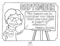 september coloring page psalm 90 12 whats in the bible