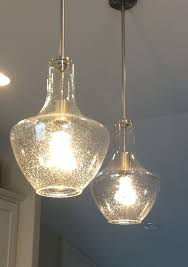Glass Island Lights Lighting Design Ideas Seeded Glass Pendant Light Seeded Glass