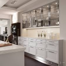 glass kitchen cabinets ideas renovations glass cabinets silver overheads