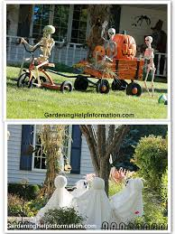 decorating your yard for halloween they are so cute trick or