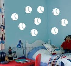 wall decals stickers home decor home furniture diy 24 baseball vinyl decal wall stickers teen boys room sports office decor balls