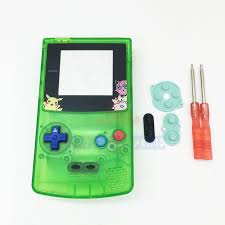 For Pokemon Jigglypuff Editiin Clear Green Housing Shell Case For Gameboy Color