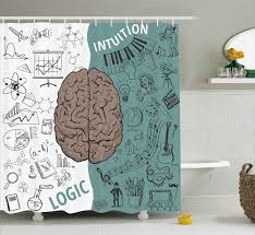 Shower Curtain Chemistry Shower Curtain Funny Science Chemistry Geometry Math Genius Themed