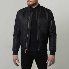 mens nylon er jacket with silver zippers in black 145 dstld