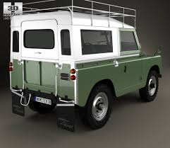 land rover land land rover series iia 88 pickup 1968 3d model hum3d