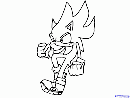 sonic the hedgehog coloring page super sonic and super shadow and super silver coloring pages