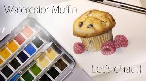 muffin speedpaint schmincke watercolors let u0027s chat youtube