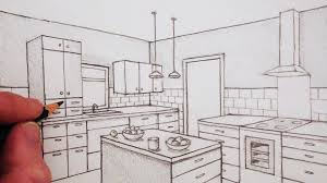 interior design bedroom sketches two point perspective great drawing