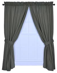 com logan solid color 68 inch by 63 inch tailored panel pair curtains with tiebacks green home kitchen