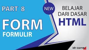 membuat form html online tutorial mudah belajar dasar html part 8 membuat form youtube