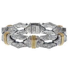 link men silver bracelet images Designer men 39 s silver and gold link bracelet gerochristo p6226n jpg