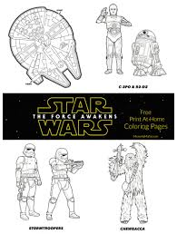 more free star wars the force awakens coloring pages mommy mafia