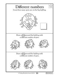 kindergarten preschool math worksheets ladybug u0027s spots