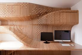 sda s stunning wood wrapped chelsea workspace features a sweeping