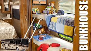 bunk beds class c motorhome with bunk beds floor plans bunkhouse